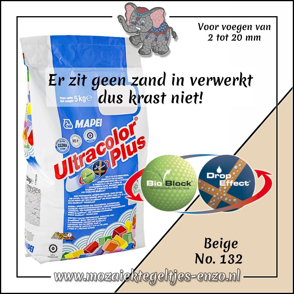 Voegmiddel | Mapei Ultracolor Plus | 250 gram |Beige 132
