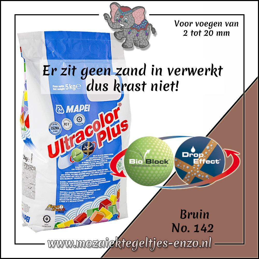 Voegmiddel   Mapei Ultracolor Plus   250 gram  Bruin 142
