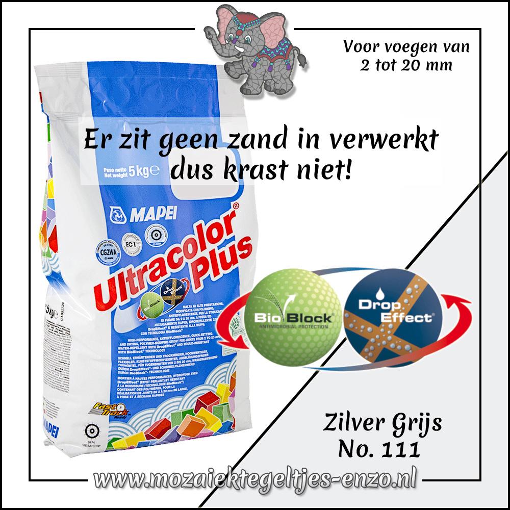 Voegmiddel | Mapei Ultracolor Plus | 500 gram |Zilver Grijs 111