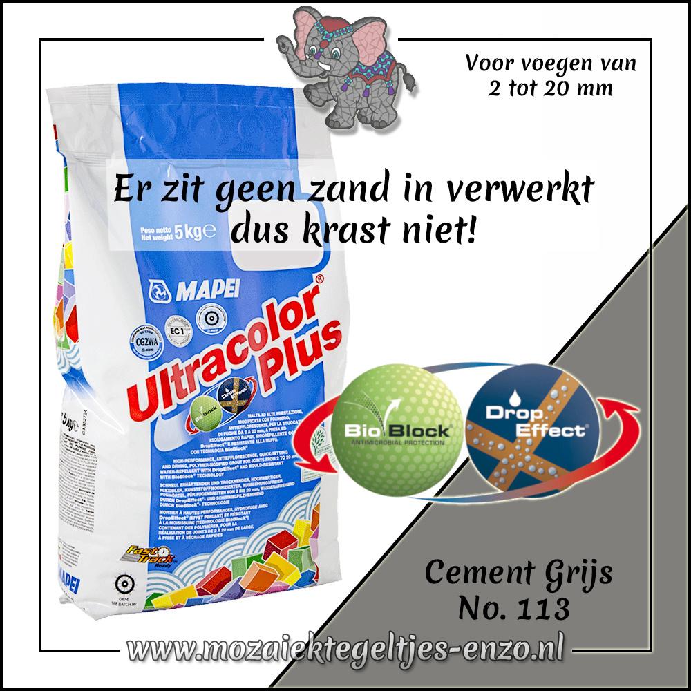 Voegmiddel   Mapei Ultracolor Plus   250 gram  Cement Grijs 113