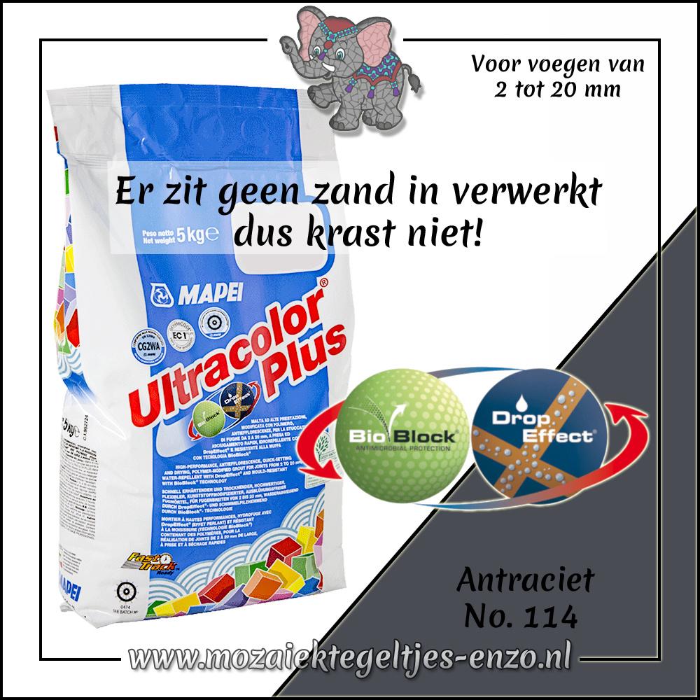 Voegmiddel | Mapei Ultracolor Plus | 250 gram |Antraciet 114