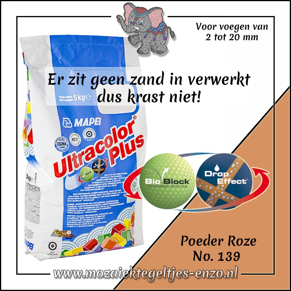 Voegmiddel   Mapei Ultracolor Plus   250 gram  Poeder Roze 139