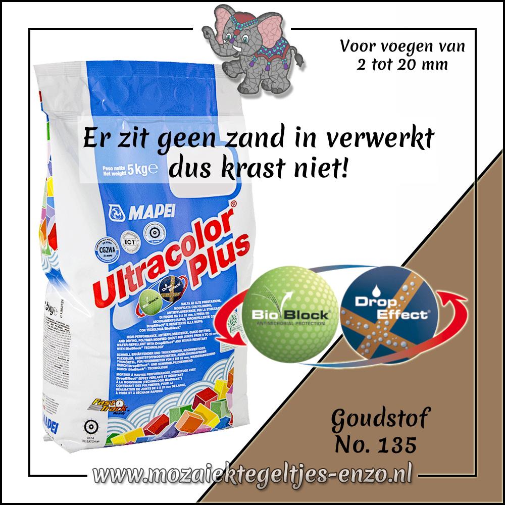 Voegmiddel   Mapei Ultracolor Plus   250 gram  Goudstof 135