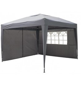Garden Royal Garden Royal Partytent 3x3m Easy Up grijs met 2 zijwanden