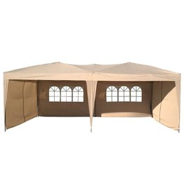 Garden Royal Garden Royal Partytent 3x6m Easy Up opvouwbaar beige