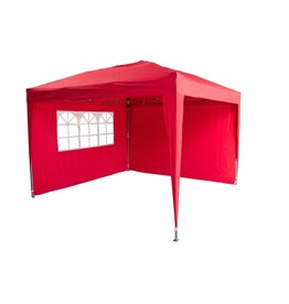 Garden Royal Garden Royal Partytent 3x3m Easy Up rood met 2 zijwanden