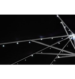 Garden Royal Lichtketting voor Parasol 72 LED Lampjes Wit