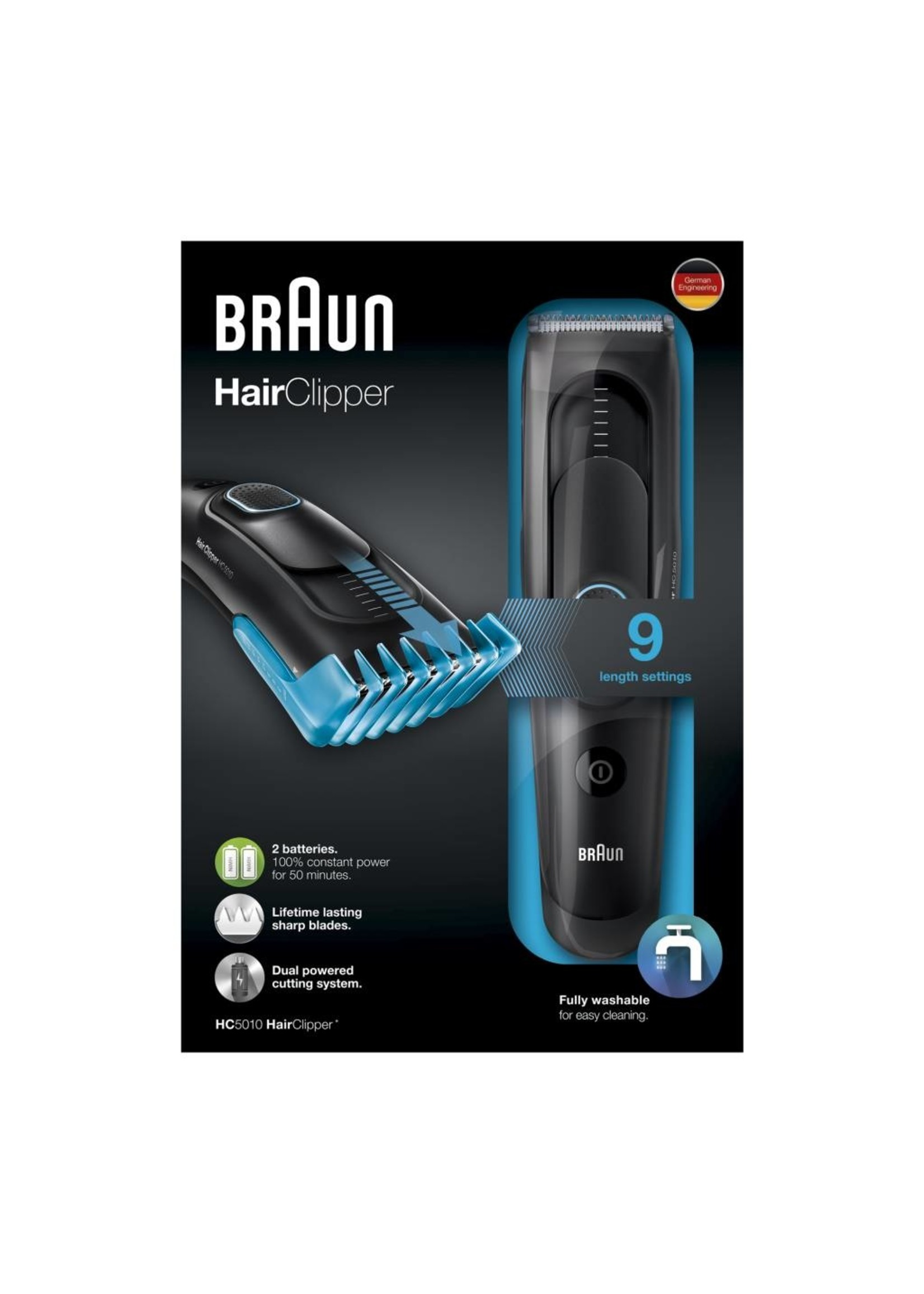 Braun Braun HC5010 Oplaadbaar Tondeuse Zwart