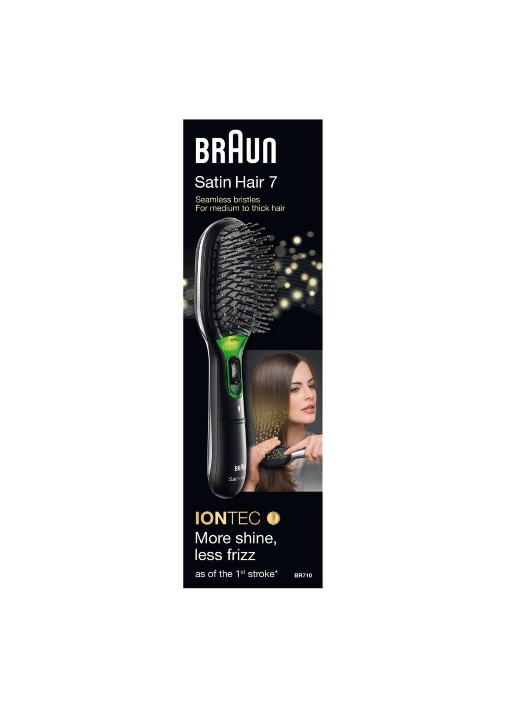 Braun Braun BR710 Volwassene Paddle haarborstel Zwart, Groen