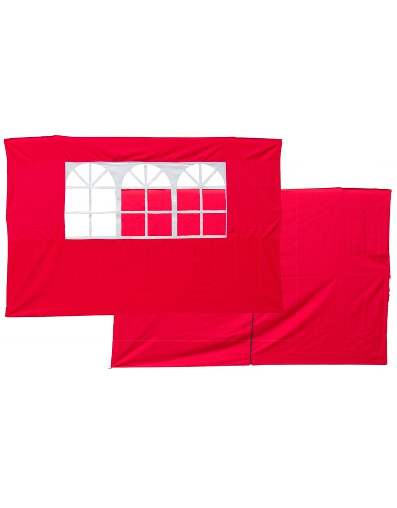 Garden Royal Set van 2 zijwanden rood voor partytenten
