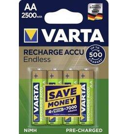 Varta Varta Endless AA (NiMH) 2500mAh 1.2V oplaadbare batterij/accu
