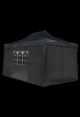 Garden Royal Garden Royal partytent Easy Up 3x4.5m Opvouwbaar zwart met zijwanden