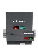 Cloer Cloer 1445 2wafel(s) 930W Zwart, Roestvrijstaal wafelijzer