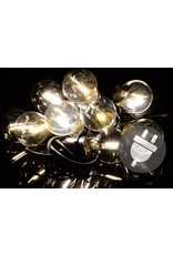 Garden Royal Feestverlichting lichtsnoer 10 LED lampen warm wit E27 Koopjeshoek