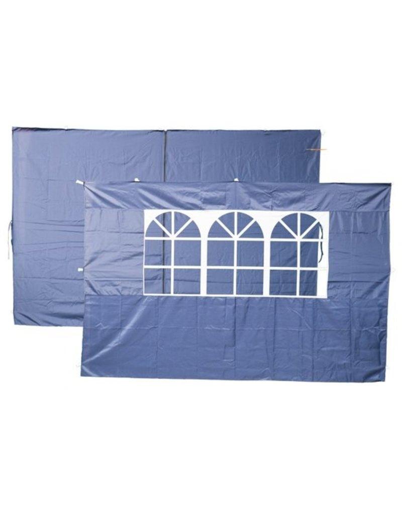 Set Set van 2 zijwanden blauw voor easy up partytenten Koopjeshoek
