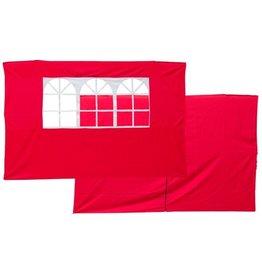 Garden Royal Set van 2 zijwanden oranje-rood voor partytenten Koopjeshoek