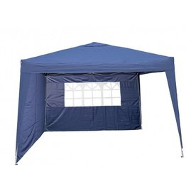 Garden Royal Garden Royal Partytent 3x3m Easy Up blauw met 2 zijwanden