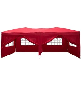 Garden Royal Garden Royal Partytent Easy Up 3x6m opvouwbaar rood