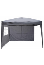 Garden Royal Garden Royal Partytent 3x3m Easy Up grijs met 4 zijwanden