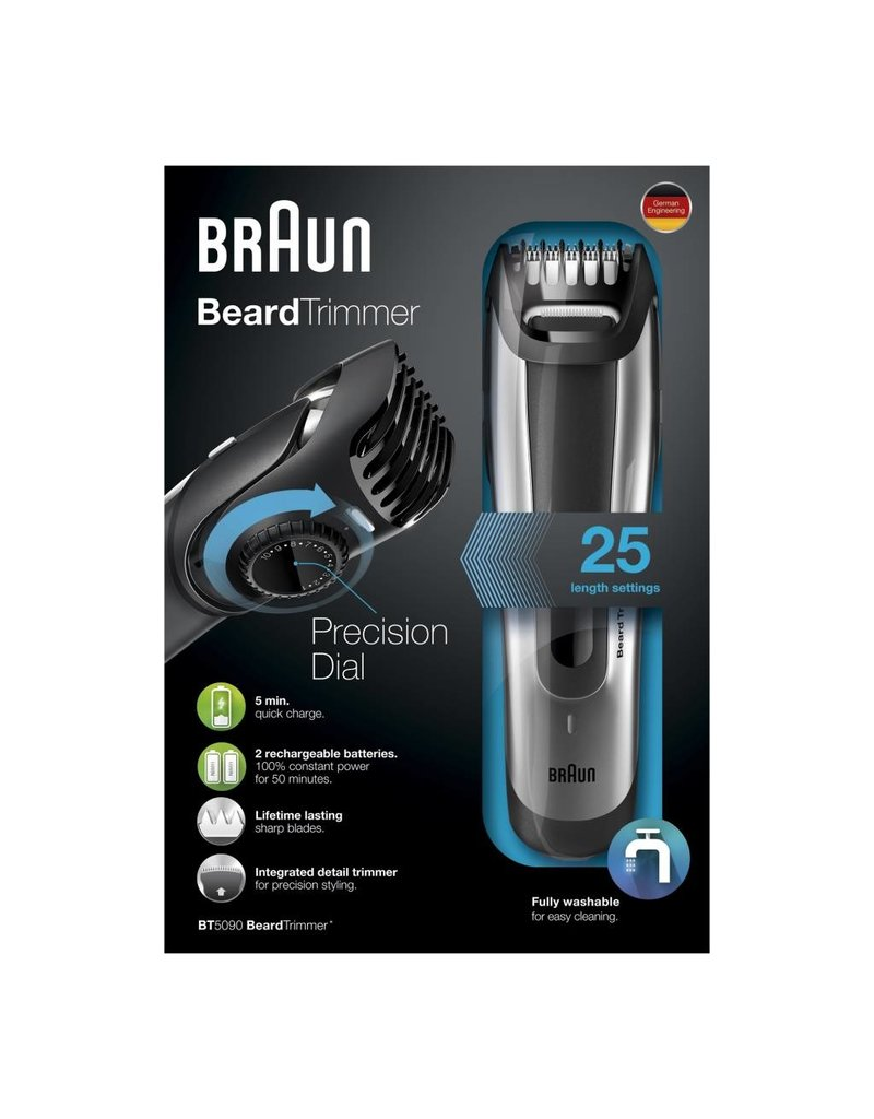 Braun Braun BT5090 Zwart, Grijs baardtrimmer
