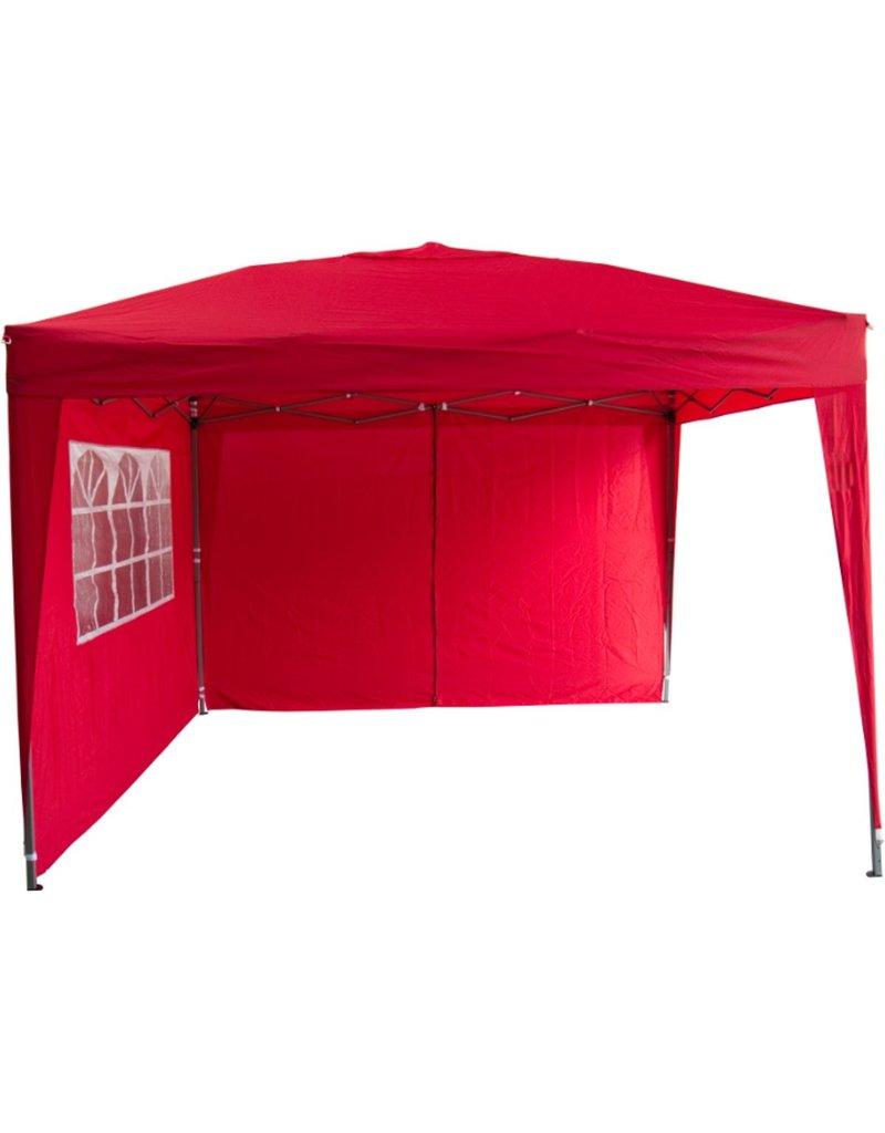 Garden Royal Partytent 3x3m Easy Up rood met 2 zijwanden koopjeshoek