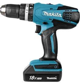 Makita Makita 18 V klopboor-/schroefmachine - HP457DWE - inclusief 2 accu's en lader