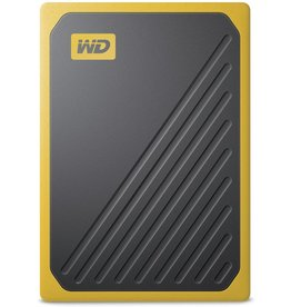 "Western Digital WD - Western Digital ""My Passport Go"" Portable SSD Drive, 1TB, USB 3.0, amber"