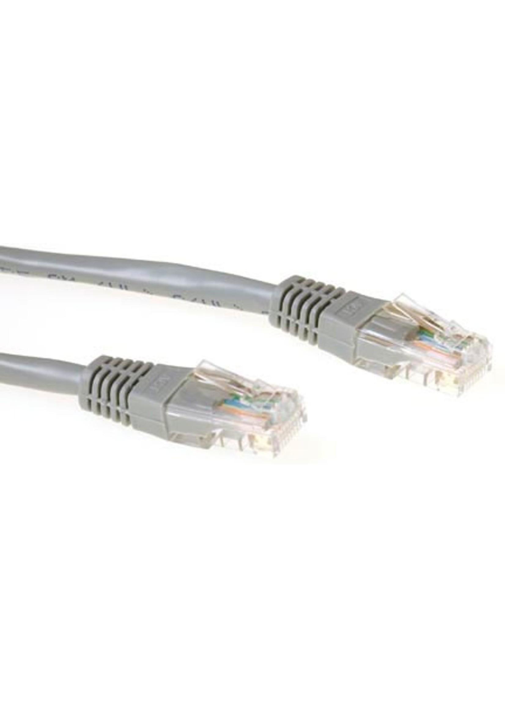 IIGLO Netwerkkabel CAT5E UTP patchcable grijs 1m