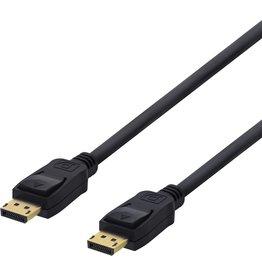 IIGLO DELTACO DP-1020D DisplayPort kabel 4K UHD (60Hz) - DP 1.2 - 2 meter