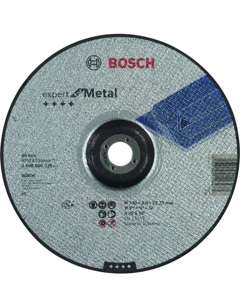 Bosch Bosch - Doorslijpschijf gebogen Expert for Metal A 30 S BF, 230 mm, 22,23 mm, 3,0 mm