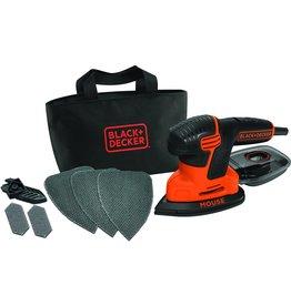 Black & Decker BLACK DECKER Mouse KA2000 Detailschuurmachine -  110W - incl. accessoires en softbag koopjeshoek