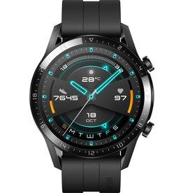 Huawei Huawei Watch GT 2- Zwart - Fluoroelastomer band