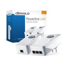 Devolo Devolo dLAN 1200 triple  Starter Kit 1200 Mbit/s Ethernet LAN Wi-Fi Wit 2 stuk(s) koopjeshoek
