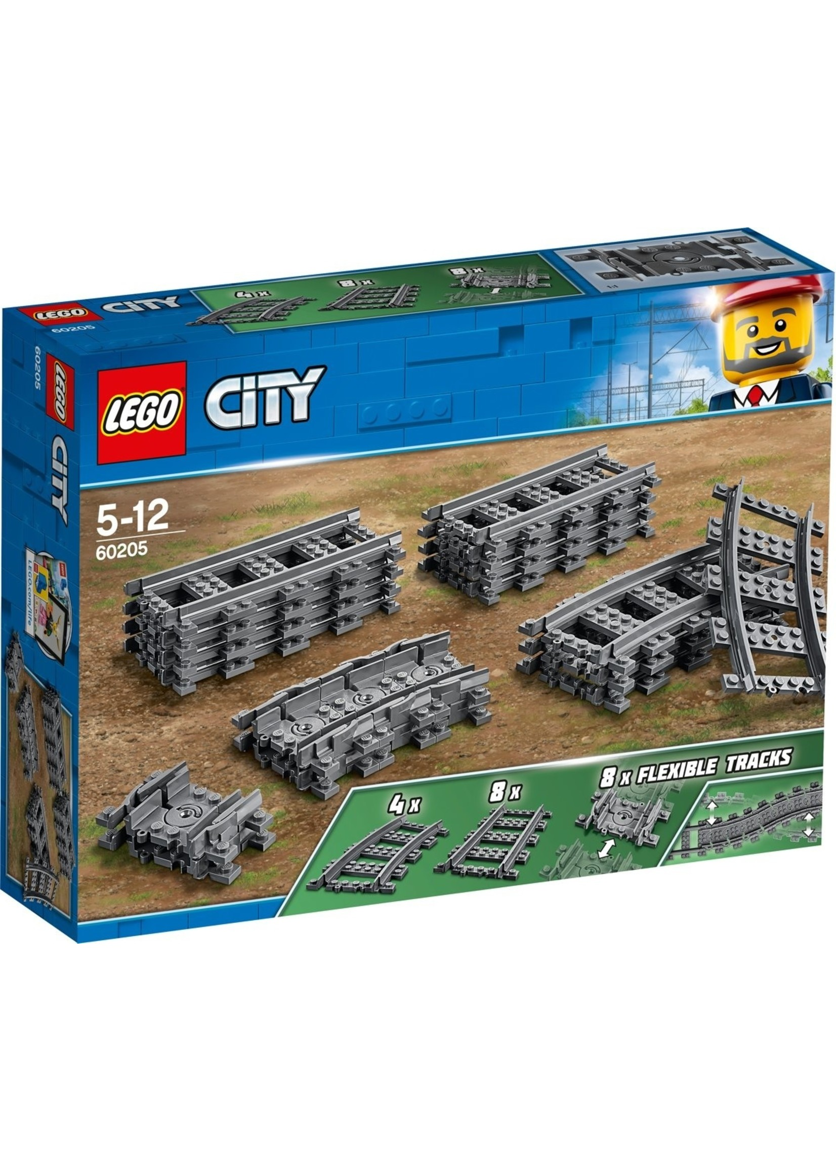 Lego LEGO City Rechte en Gebogen Rails - 60205