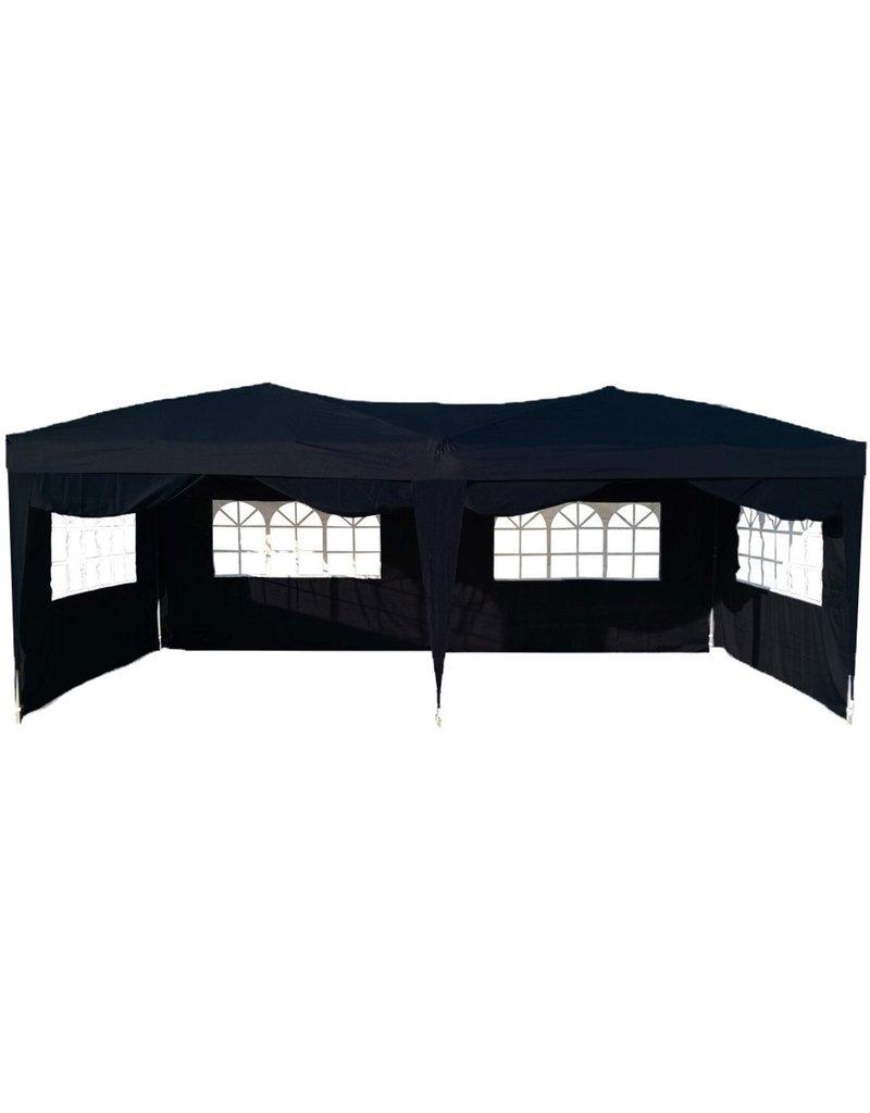 Garden Royal Partytent Easy Up 3x6m opvouwbaar zwart koopjeshoek(C)