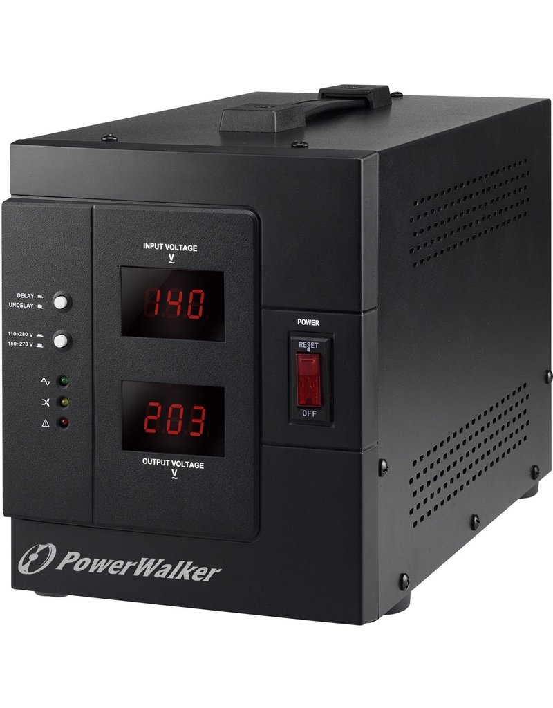 BlueWalker PowerWalker AVR 3000/SIV spanningregelaar 230 V Zwart koopjeshoek