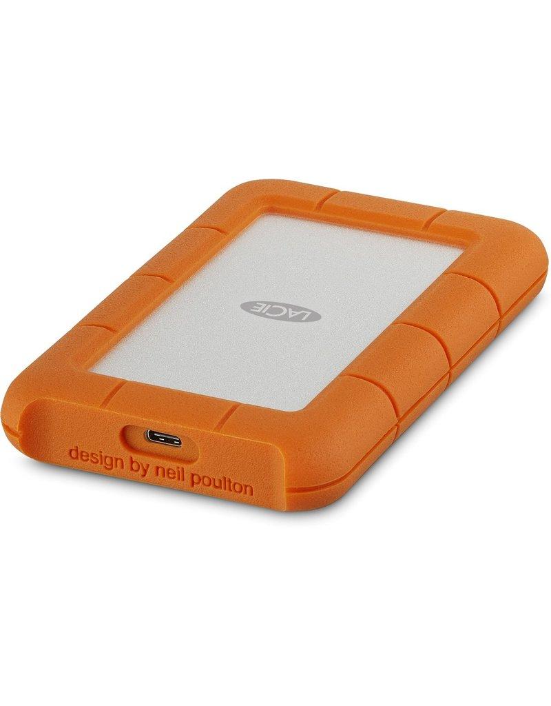 LaCie LaCie Rugged USB-C externe harde schijf 2000 GB Oranje, Zilver koopjeshoek