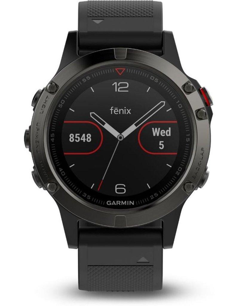 Garmin Garmin Fenix 5 - GPS multisport smartwatch met polshartslagmeter - Ø 47 mm - Leisteengrijs koopjeshoek