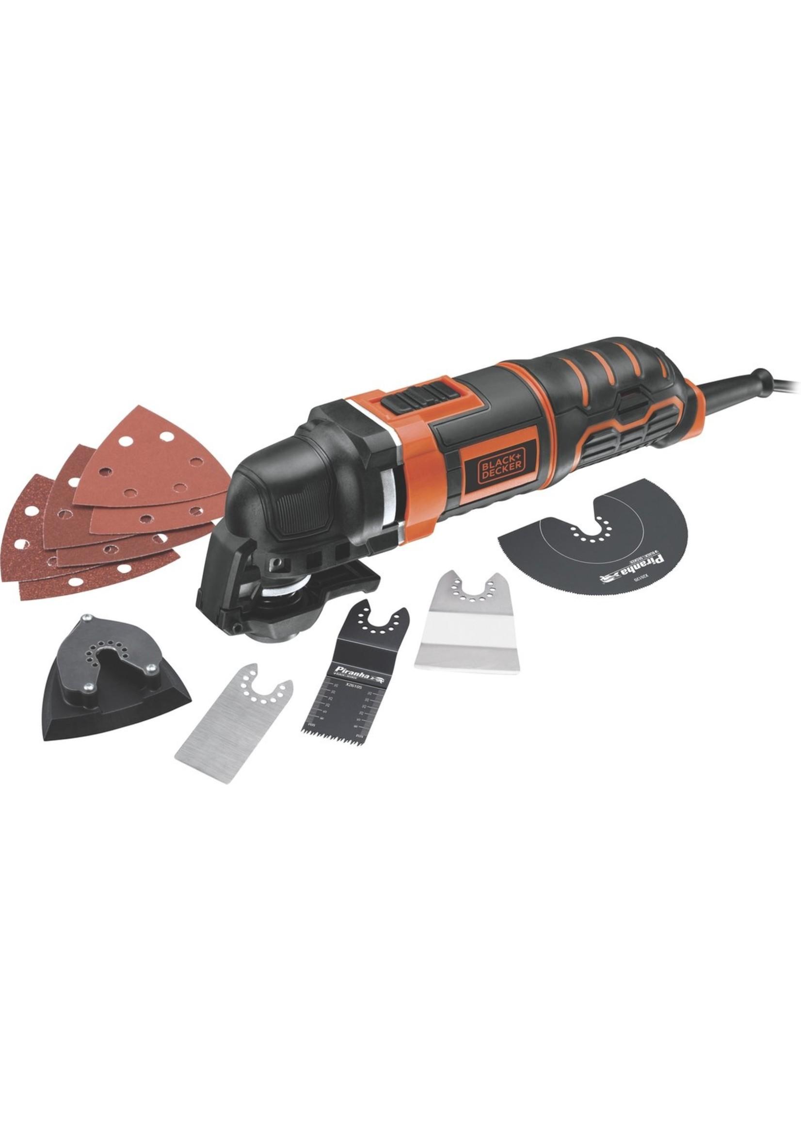 Black & Decker BLACK DECKER MT300KA-QS Multitool - Oscillerend - 300W - Incl. koffer en 11 accessoires