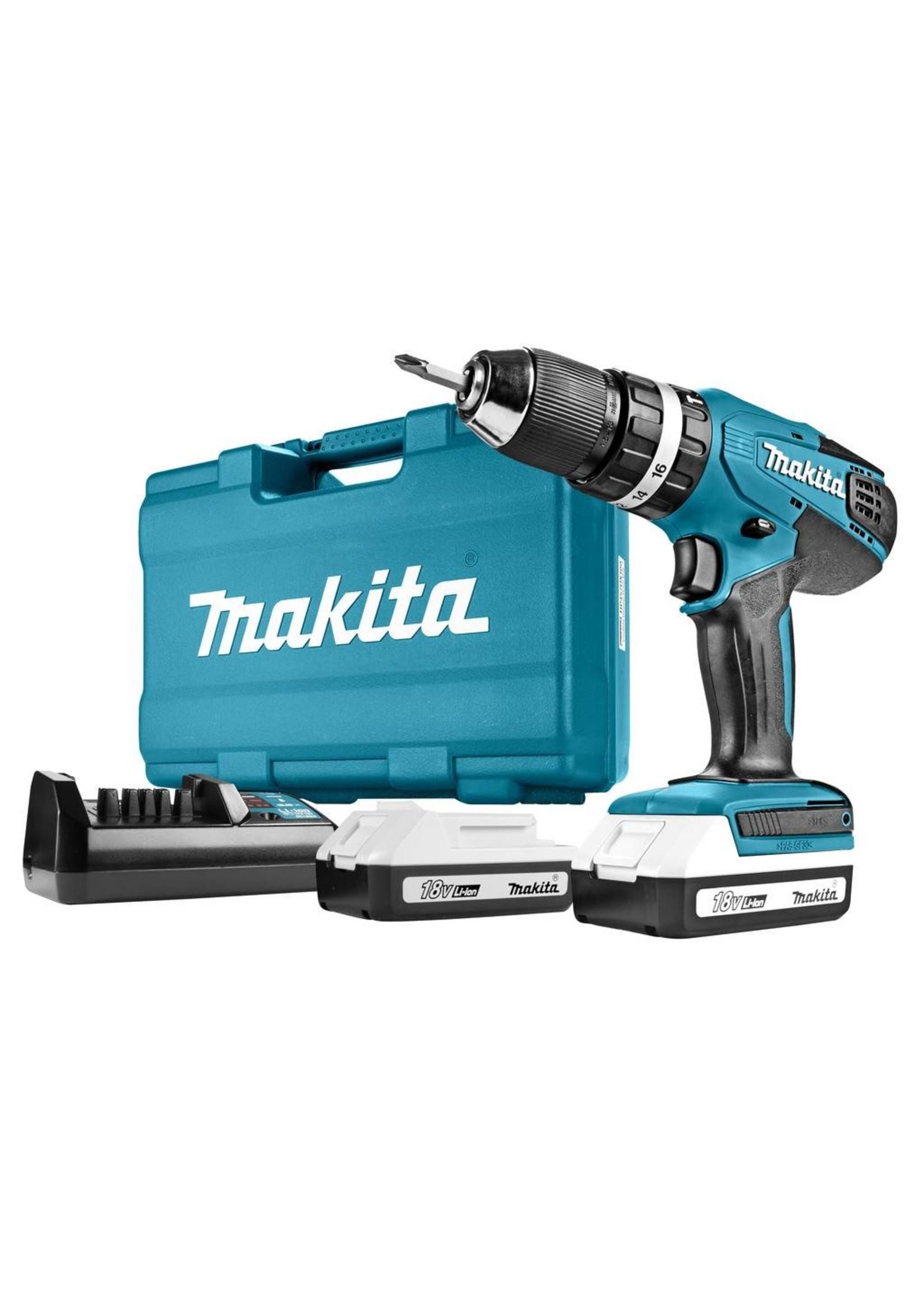 Makita Makita HP457DWE Boormachine met pistoolgreep (Li-Ion) 1.3Ah accu boor