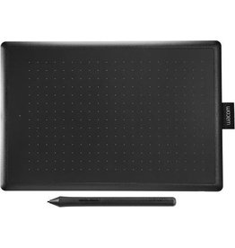 Wacom Wacom One by Medium grafische tablet 2540 lpi 216 x 135 mm USB Zwart, Rood