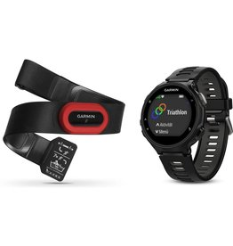 Garmin Garmin Forerunner 735XT - GPS multisporthorloge met polshartslag meting en HRM-Run™ band - 44.5 mm - zwart/grijs