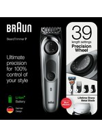 Braun Braun BT7220 Zwart/Metaalgrijs - Baardtrimmer