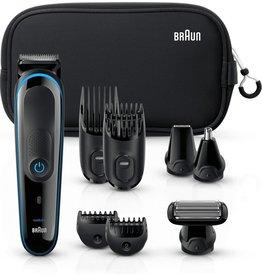 Braun Braun Multi Grooming Kit MGK3980 Zwart / Blauw - 9-in-1 Precisietrimmer voor baard- en haarstyling