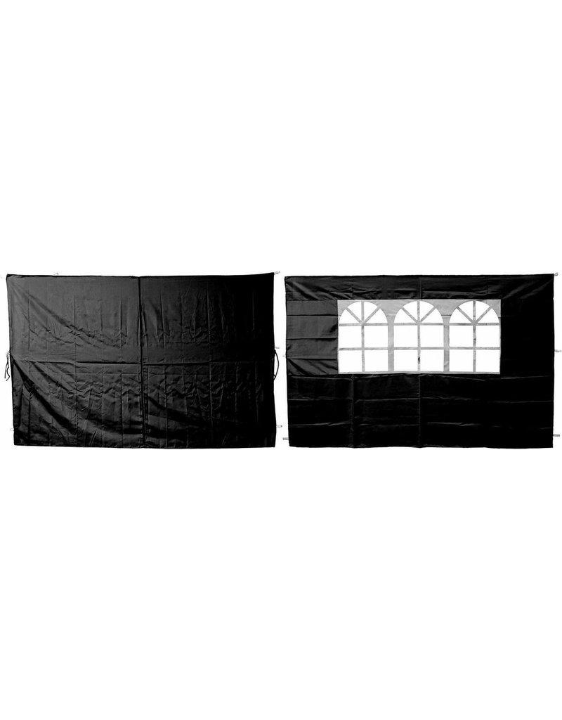 Garden Royal Set van 2 zijwanden zwart voor partytenten koopjeshoek
