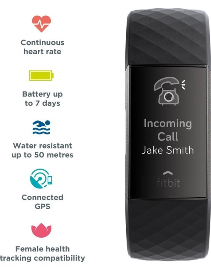 Fitbit Fitbit Charge 3 - Activity tracker - Zwart