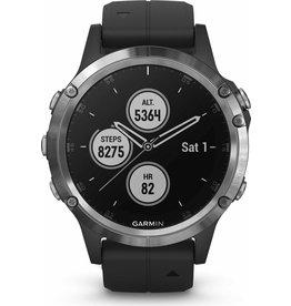 Garmin Garmin Fenix 5 Plus - GPS multisport smartwatch met polshartslagmeter - 47 mm - Zilver/Zwart
