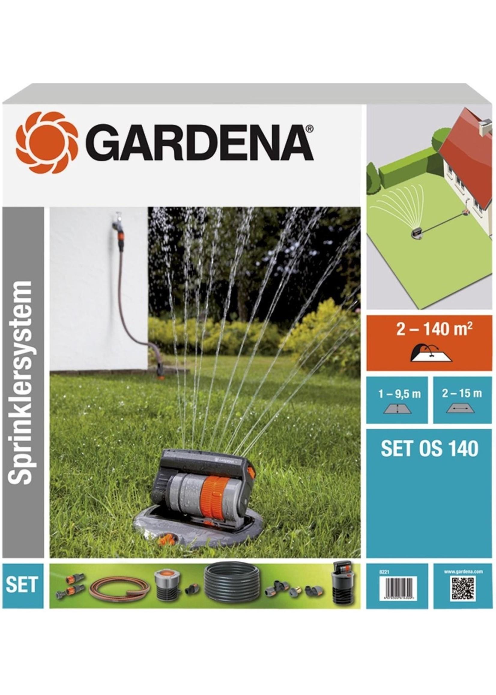 Gardena GARDENA Sprinklersysteem - Complete set incl. verzonken zwenksproeier - gazons tot 140 m² koopjeshoek