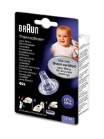 Braun Braun Navulset Lensfilters voor Oorthermometer -  Beschermkapjes Voor Braun Thermoscan 3 / 5 / 6 / 7 - LF40 - 40 Stuks