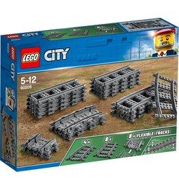 Lego LEGO City Rechte en Gebogen Rails - 60205 koopjeshoek